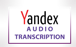 Yandex Audio Transcription
