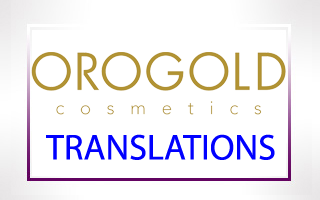 Turkish Translation of OROGOLD Cosmetics
