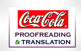 Coca-Cola Translation & Proofreading