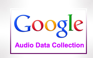 Google Audio Data Collection