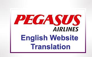 Pegasus Airlines Website Translation