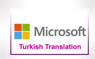Turkish Translation for Microsoft