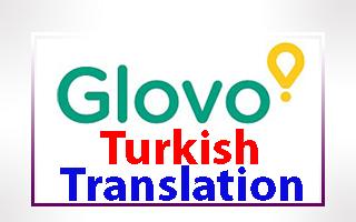 Turkish Translation of Glovo App & Website