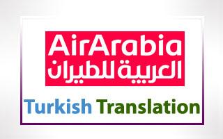 Turkish Translation for Air Arabia